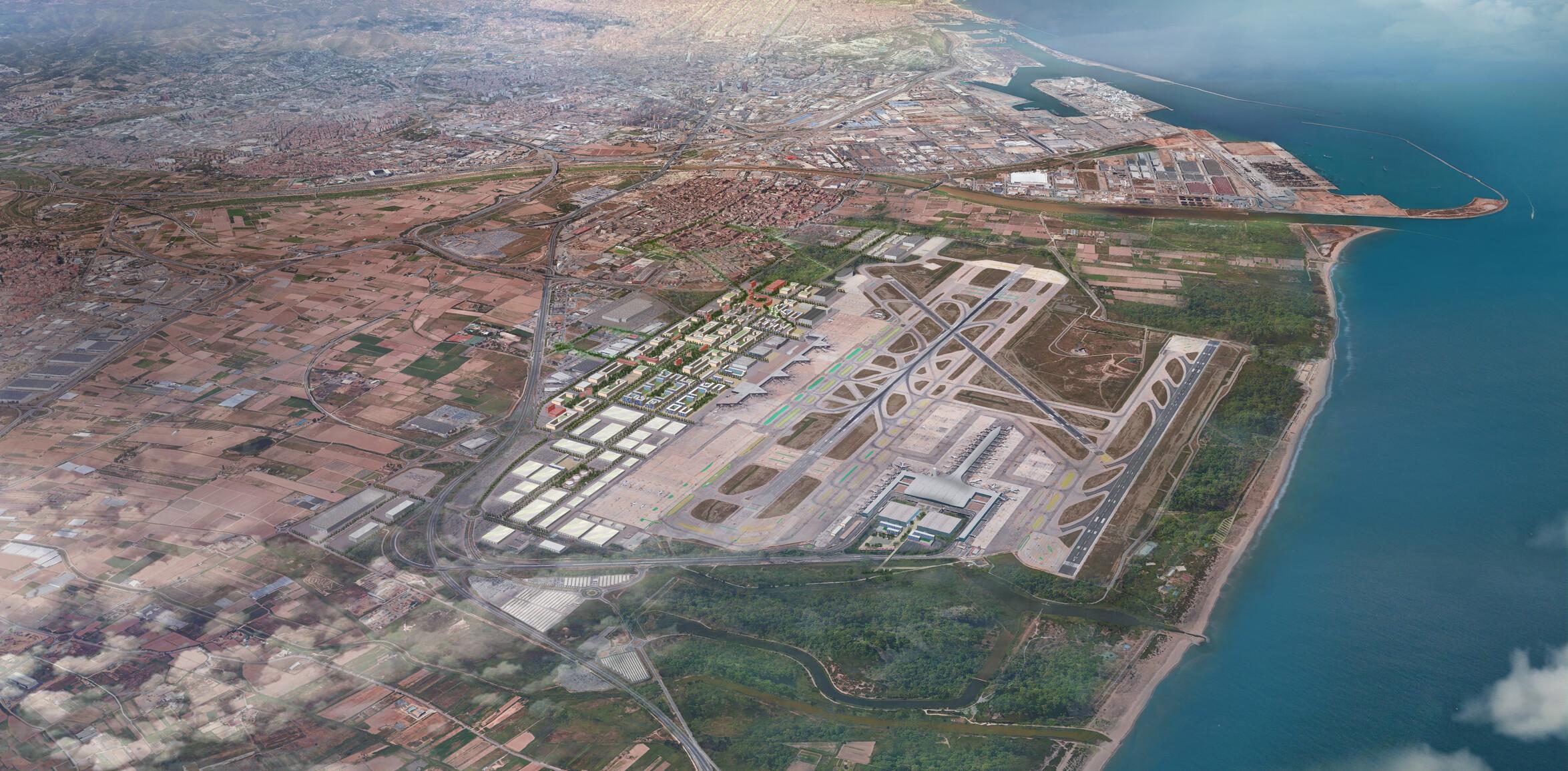 Barcelona-El Prat Airport Real Estate Masterplan © Arup